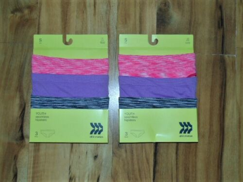 Lot of 2 all in motion Youth Seamless Hipsters...Size: S-6/6X  NWT