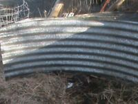 Curved Corrugated Galvanised Sheets 21 sheets