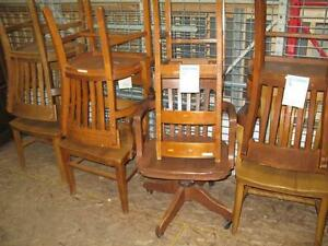 Old Wood Chairs $40.00 to $75.00 each.