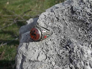 UNIQUE LARGE TRIBAL CARNELIAN ENGRAVED RING Windsor Region Ontario image 5