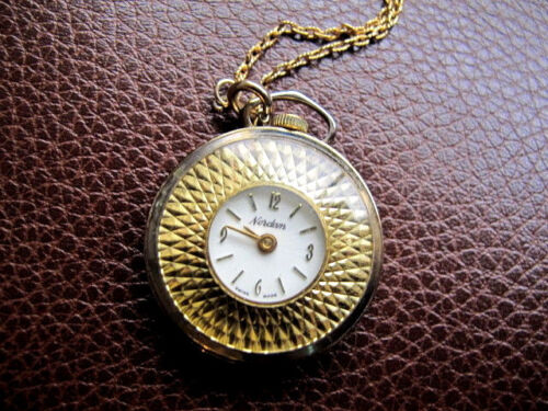 Vintage Nordam Swiss Made Pendant Watch Nurses Watch Necklace