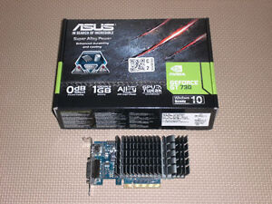 For Sale: ASUS GT 730 1GB silent video/graphics card Kitchener / Waterloo Kitchener Area image 1