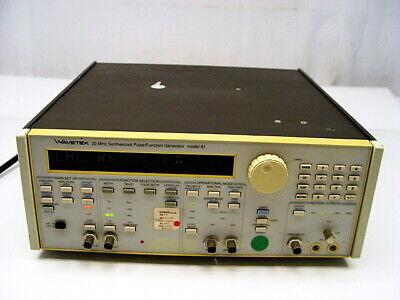 Wavetek 91 20mhz Synthesized Pulse Function Generator