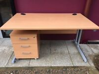 Office desks, pedestals, filing cabinets, chairs, cupboards, tambour cabinets