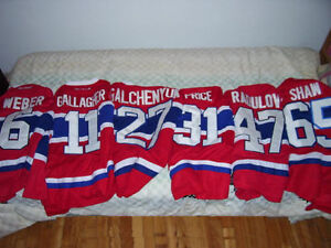 CHANDAIL LNH CANADIENS MONTREAL WEBER DROUIN SHAW PRICE ETC