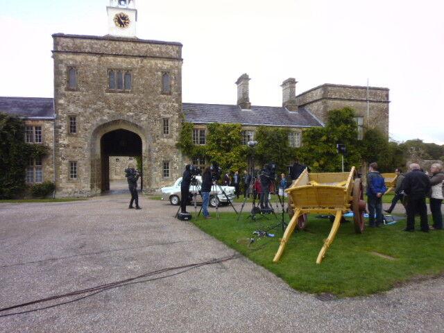 Filming at Parham Houyse, Parham Park, West Sussex