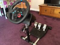 Logitech G29 Driving Force Wheel & Shifter & Wheel Stand Pro