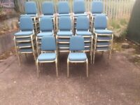 Blue Burgess Stacking Chairs