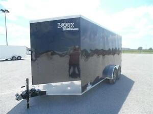 New 7x14 Enclosed trailer V Nose Ramp door clearance