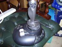 microsoft usb joystick 6 button plus throttle control .good for ms flight sim, very good condition