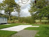 PITCH FOR A HOLIDAY STATIC CARAVAN - CARMARTHENSHIRE, SOUTH WEST WALES