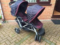 *SOLD* Baby Todler Twin Pushchair Pram Double Tamdem Great Condition