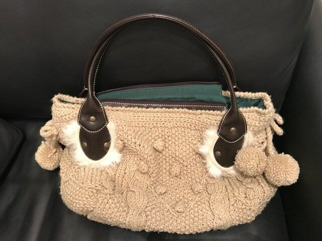 Italienische Handtasche in Strickoptik von Luana
