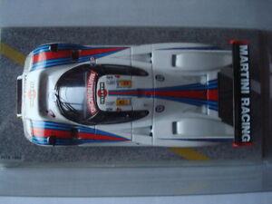 """SPARK 1:43 LANCIA LC2-85 #4 Le Mans 1985 - 6th overall - France - État : Occasion : Objet ayant été utilisé. Consulter la description du vendeur pour avoir plus de détails sur les éventuelles imperfections. Commentaires du vendeur : """"Pas de boite d'origine ni de surboite carton """" - France"""