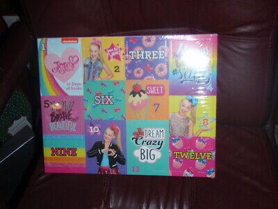 Jojo Siwa 12 Days Of Socks Advent Box Calendar Kids Shoe Size 7.5-3.5 NEW