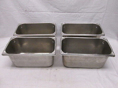 4 13 Size Food Pan 6 Deep Stainless Restaurant Hotel Steam Table