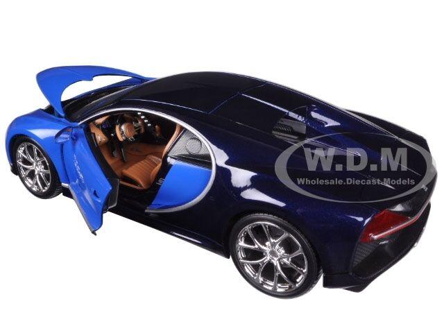 2016 bugatti chiron blue 1 18 diecast model car by bburago 11040 cad picclick ca. Black Bedroom Furniture Sets. Home Design Ideas