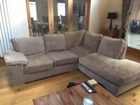 Large corner chaise + 3 Seater sofas for sale.