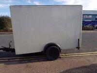 huge braked box trailer