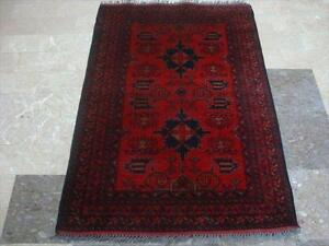 EXCLU KHAL MUHAMADI FINE AFGHAN HAND KNOTTED RUG CARPET FB-1182