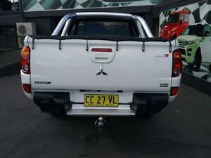 2011 Mitsubishi Triton MN MY12 GLX-R (4x4) White 5 Speed Automatic 4x4 Dual Cab Utility Greenacre Bankstown Area Preview