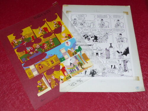 [Comics] Martial/TONY LAFLAMME Volapük Board Colours Celluloid Original 1974 -17