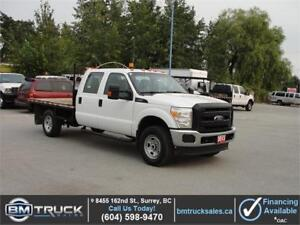 2013 FORD F-350 SUPER DUTY XL CREW CAB FLATDECK 4X4 ONLY 65000KM