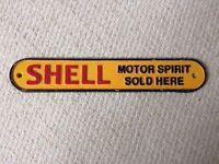 Vintage Sign - shell motor oil
