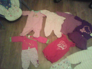 baby girl clothes sizes 0-3 months and 3-6months or best offer