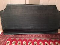 Headboard double sized, dark green John Lewis with removable cover