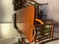 Regency Antique Style Board Room or dining solid wood table and 10 chairs