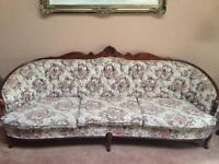 French provincial sofa/love seat/chair in mint condition 3 pcs .
