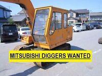 MITSUBISHI DIGGERS WANT£D FOR EXPORT MARKET! DEAD OR ALIVE!