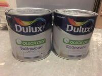 NEW/ UNUSED Dulux Quick Dry Satinwood Paint, 2.5 L - Pure Brilliant White