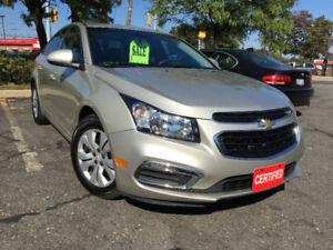 2015 Chevrolet Cruze LT Sedan! Amazing Condition! Certified!