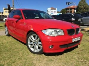 2004 BMW 120i E87 Red Manual Hatchback Yagoona Bankstown Area Preview