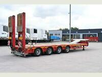 FAYMONVILLE 9FT 4 AXLE EXTENDABLE LOW LOADER