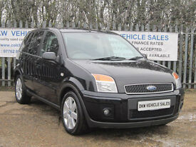 "FORD FUSION + 1.6 PETROL 5DR BLACK 2007 (07) 72K FSH 9 X STAMPS / 16"" ALLOYS!!!!"