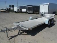 PRE-OWNED 2009 5 X 16 ALUMINUM UTILITY TRAILER - TAX IN PRICE!