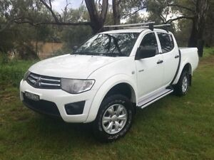 2011 Mitsubishi Triton MN MY11 GL-R White 5 Speed Manual Dual Cab Utility Coonamble Coonamble Area Preview