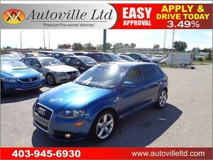 2008 Audi A3 S-Line AWD  Leather Sunroof Everyone Approved