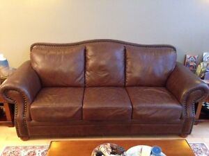 leather couch set with tables Kitchener / Waterloo Kitchener Area image 2