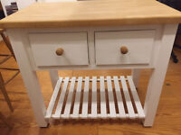 Solid Pine Kitchen Island (Old Creamery) and 2 chairs to match
