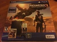 PS3 - Uncharted 3 Bundle - PS3, Controller, Games - ALL IN ONE