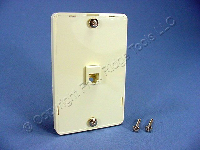 Leviton Almond Wall Phone Mounting Plate Telephone Jack 4-Wire 1-Gang 40914-A