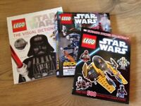 Lego Star Wars Books (with over 250 Lego pieces)