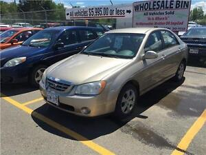 2005 Kia Spectra $3,995.00 TAXES INCLUDED!!! NEW PRICE!!!