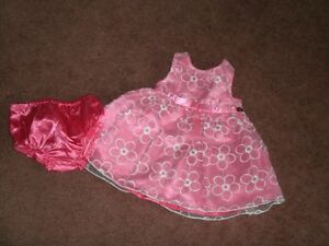 Lovely Girl's Party Dress, Size 12 Mo.