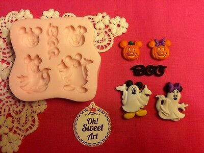 Halloween Mickey Mouse Disney Silicone Mold Food Safe Cake toppers Cupcake (FDA)](Good Halloween Food)