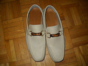 size 10.5 beige GUCCI loafers - Christmas gift for him
